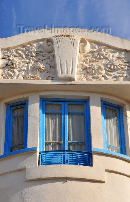 algeria367: Algeria / Algérie - Béjaïa / Bougie / Bgayet - Kabylie: art nouveau architecture - Boulevard Biziou | immeuble art nouveau - Boulevard Biziou - photo by M.Torres - (c) Travel-Images.com - Stock Photography agency - Image Bank