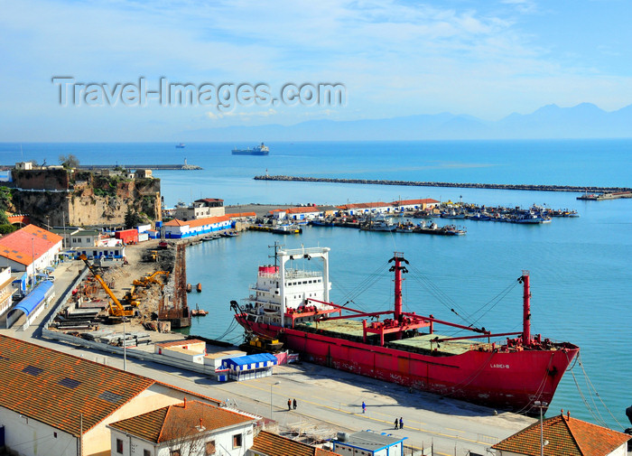 algeria369: Algeria / Algérie - Béjaïa / Bougie / Bgayet - Kabylie: harbour and Sidi Abdelkader fort - the Labici-B, an 82-metre freighter | Front de mer - port au pied du Fort Sidi Abdelkader - navire cargo polyvalent Labici-B - photo by M.Torres - (c) Travel-Images.com - Stock Photography agency - Image Bank
