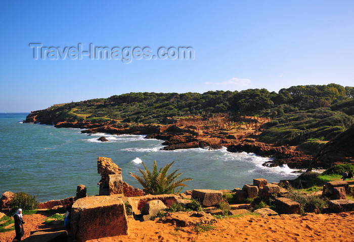 algeria393: Tipaza, Algeria / Algérie: Roman ruins and the Forum promontory - Unesco World Heritage site | ruines romaines et le promontoire du Forum - Patrimoine mondial de l'UNESCO - photo by M.Torres - (c) Travel-Images.com - Stock Photography agency - Image Bank