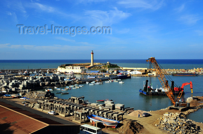 algeria429: Cherchell - Tipasa wilaya, Algeria / Algérie: harbour - general view | vue générale du port - photo by M.Torres - (c) Travel-Images.com - Stock Photography agency - Image Bank