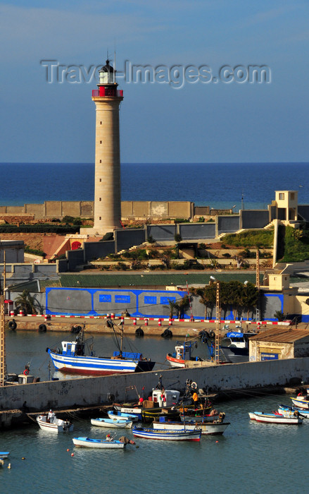 algeria431: Cherchell - Tipasa wilaya, Algeria / Algérie: harbour - lighthouse and the Mediterranean sea | port - phare et la Méditerranée - photo by M.Torres - (c) Travel-Images.com - Stock Photography agency - Image Bank