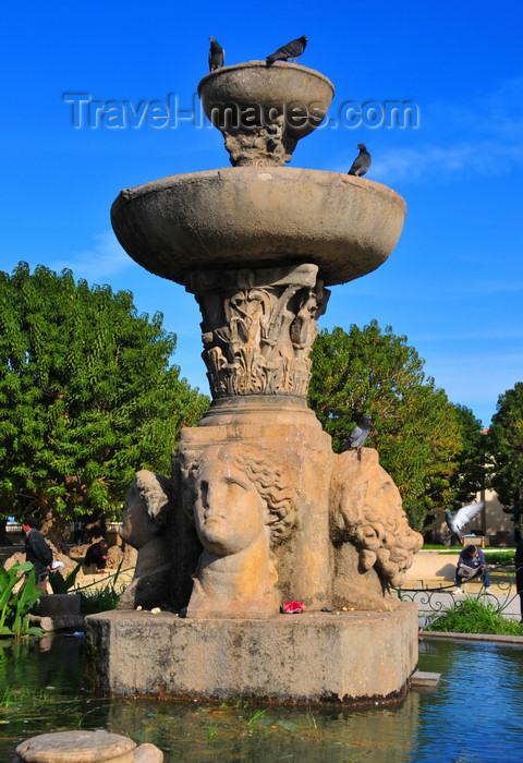algeria437: Cherchell - Tipasa wilaya, Algeria / Algérie: copy of a monumental Roman fountain | réplique d'une fontaine romaine monumentale - photo by M.Torres - (c) Travel-Images.com - Stock Photography agency - Image Bank