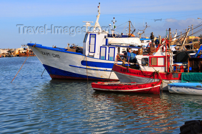 algeria447: Cherchell - Tipasa wilaya, Algeria / Algérie: harbour - the trawler 'Zaim' | Port - le chalutier 'Zaim' - photo by M.Torres - (c) Travel-Images.com - Stock Photography agency - Image Bank