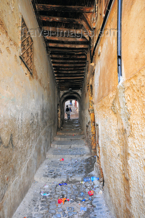 algeria467: Algiers / Alger - Algeria / Algérie: Devil's street - tunneling stairs - Kasbah of Algiers - UNESCO World Heritage Site | rue du Diable - escaliers dans un tunnel sale - Casbah d'Alger - Patrimoine mondial de l'UNESCO - photo by M.Torres - (c) Travel-Images.com - Stock Photography agency - Image Bank