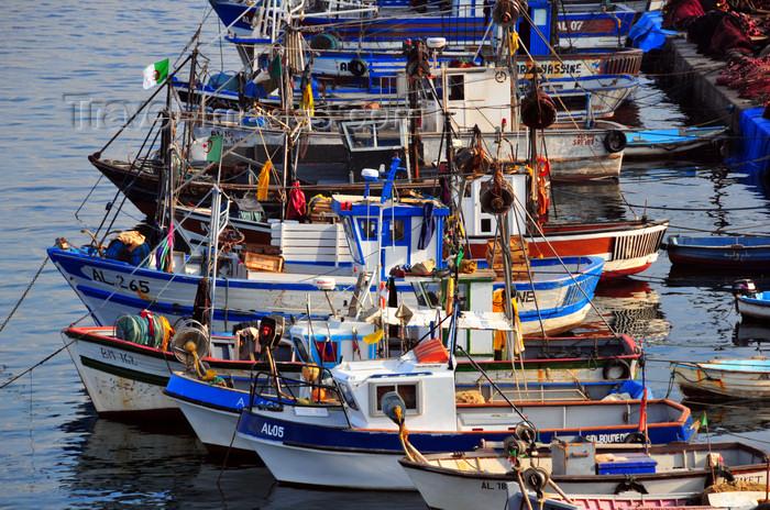 algeria495: Algiers / Alger - Algeria / Algérie: coastal fishing vessels - fishing harbour  bateaux de pêche côtière - Môle de Pêche - Pêcherie - photo by M.Torres - (c) Travel-Images.com - Stock Photography agency - Image Bank