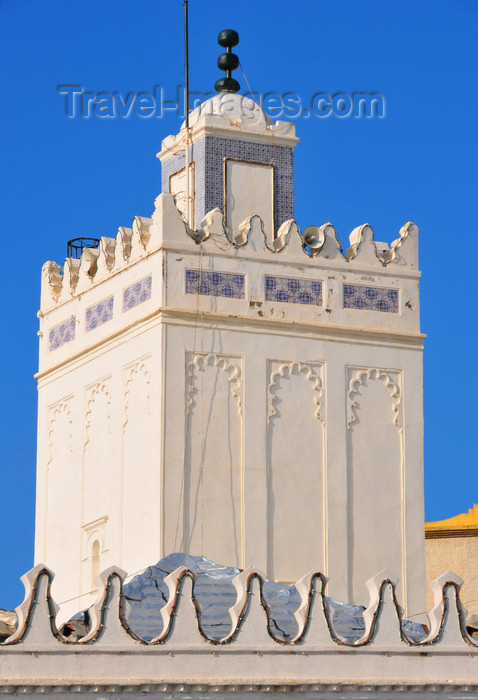 algeria499: Algiers / Alger - Algeria / Algérie: minaret of the Grand Mosque - Djamâa Kebir | minaret de la grande mosquée - Djemâa El Kebir - photo by M.Torres - (c) Travel-Images.com - Stock Photography agency - Image Bank