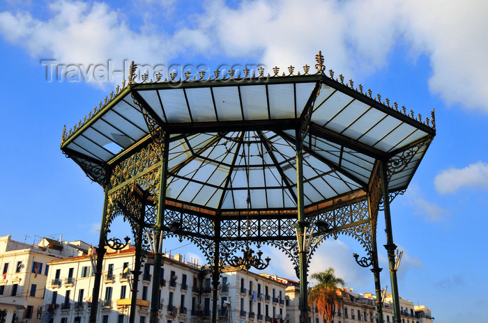 algeria517: Algiers / Alger - Algeria / Algérie: Martyrs square - bandstand and Mediterranean sky | Place des Martyrs - Kiosque à musique - photo by M.Torres - (c) Travel-Images.com - Stock Photography agency - Image Bank