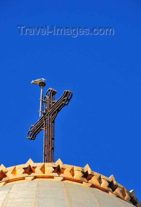 algeria588: Algiers / Alger - Algeria / Algérie: Notre Dame d'Afrique basilica - cross | Basilique Notre-Dame d'Afrique - croix - photo by M.Torres - (c) Travel-Images.com - Stock Photography agency - Image Bank