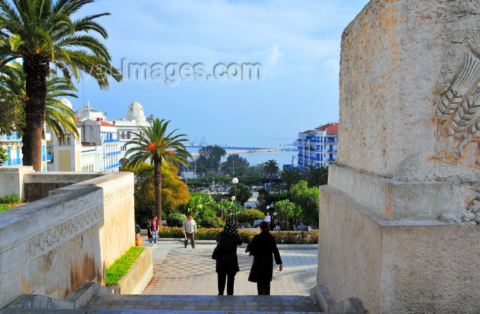 algeria602: Algiers / Alger - Algeria / Algérie: floral clock park - going down the Forum stairs | parc de l'horloge florale - escalier du Forum - photo by M.Torres - (c) Travel-Images.com - Stock Photography agency - Image Bank