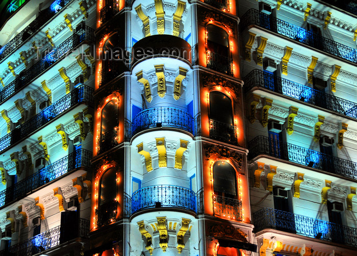 algeria624: Algiers / Alger - Algeria / Algérie: Albert 1er Hotel - nocturnal image | Hôtel Albert 1er - Avenue Pasteur - photo nocturne - photo by M.Torres - (c) Travel-Images.com - Stock Photography agency - Image Bank