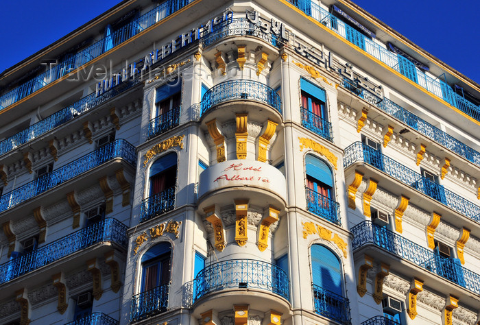 algeria630: Algiers / Alger - Algeria / Algérie: Albert 1er Hotel - French Colonial architecture | Hôtel Albert 1er - architecture coloniale française - Avenue Pasteur - photo by M.Torres - (c) Travel-Images.com - Stock Photography agency - Image Bank