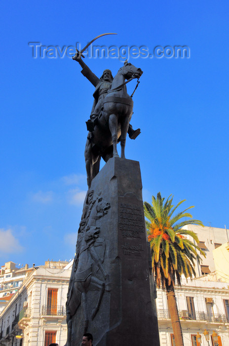 algeria667: Algiers / Alger - Algeria / Algérie: Emir Abdelkader square - while in exile in France Abd al-Qadir became a Freemason | Place Emir Abdelkader - pendant l'exil en France Abd El-Kader est devenu un franc-maçon - photo by M.Torres - (c) Travel-Images.com - Stock Photography agency - Image Bank