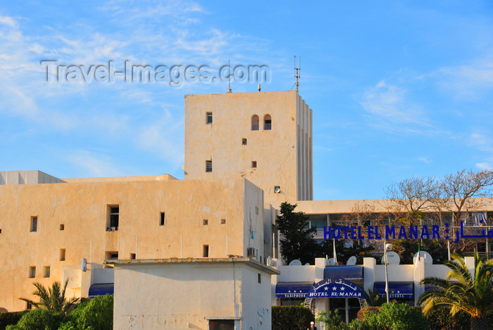 algeria721: Sidi Fredj  / Sidi-Ferruch - Alger wilaya - Algeria / Algérie: El Manar hotel - entrance | Hôtel El Manar - entrée - photo by M.Torres - (c) Travel-Images.com - Stock Photography agency - Image Bank