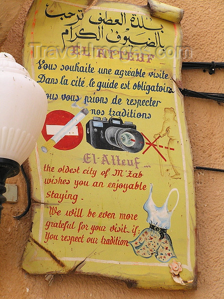 algeria93: Algeria / Algerie - M'zab - Ghardaïa wilaya: restrictions - photo by J.Kaman - (c) Travel-Images.com - Stock Photography agency - Image Bank