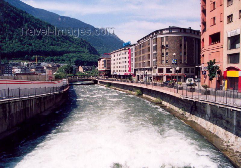 andorra13: Andorra la Vella: along C. Prat de La Creu - mountain water (photo by M.Torres) - (c) Travel-Images.com - Stock Photography agency - Image Bank