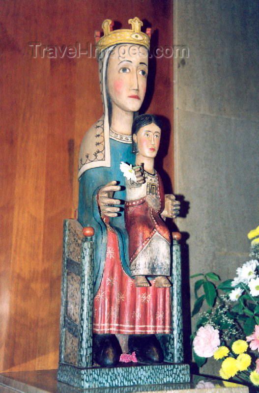 andorra16: Andorra la Vella: St Esteve Church / Església de St. Esteve - sad Virgin - statue- religious art (photo by M.Torres) - (c) Travel-Images.com - Stock Photography agency - Image Bank