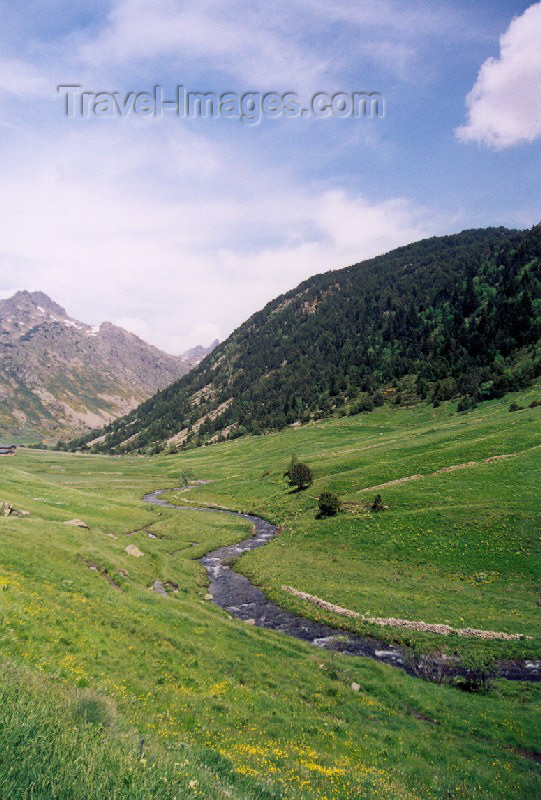 andorra3: Andorra - Coma de Ransol: stream flowing from the mountain - Pyrenees (photo by M.Torres) - (c) Travel-Images.com - Stock Photography agency - Image Bank