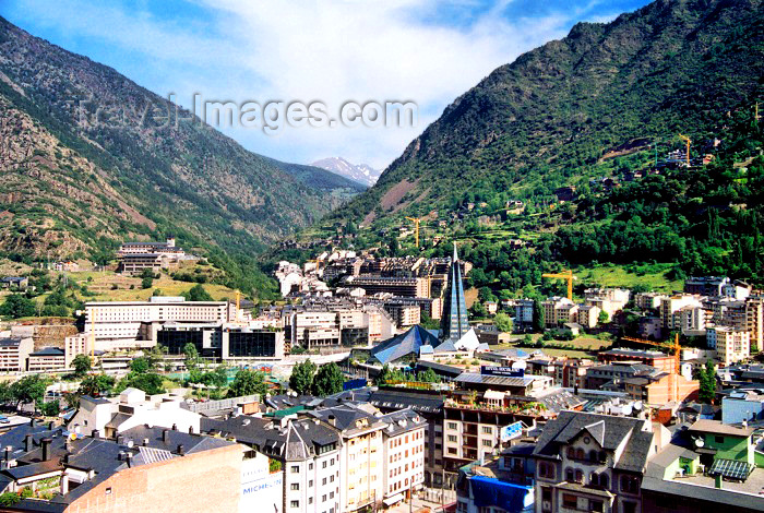 andorra9: Andorra - Escaldes-Engordany:  the valley flanked by the Pyrenees - shot from the roof of Hotel Panorama - photo by M.Torres - (c) Travel-Images.com - Stock Photography agency - Image Bank