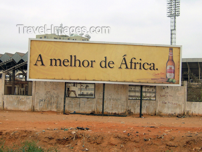 angola5: Angola - Luanda: South African touch - ad for Castle beer / anúncio à cerveja Castle - photo by A.Parissis - (c) Travel-Images.com - Stock Photography agency - Image Bank