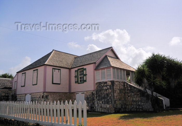 anguilla21: The Valley, Anguilla: Wallblake House, a cotton plantation house built in 1787 by built by Valentine Blake, now the rectory the Catholic Church - colonial architecture - Carter Ray Boulevard - photo by M.Torres - (c) Travel-Images.com - Stock Photography agency - Image Bank
