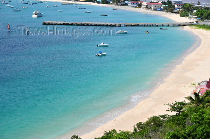 anguilla25: Sandy Ground, Anguilla: beach and the pier of Anguilla's main harbour - Road Bay - photo by M.Torres - (c) Travel-Images.com - Stock Photography agency - Image Bank