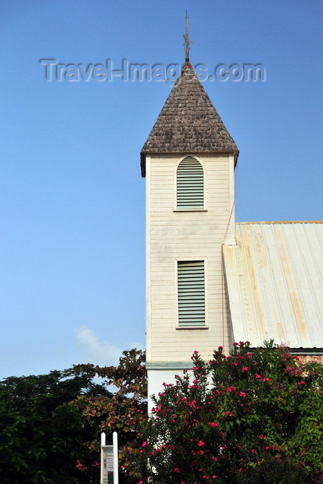 anguilla29: The Valley, Anguilla: Ebenezer Methodist Church - bell tower - photo by M.Torres - (c) Travel-Images.com - Stock Photography agency - Image Bank