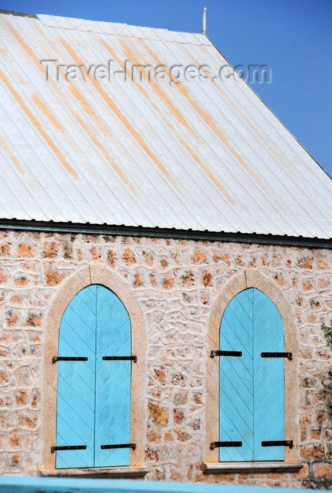 anguilla39: The Valley, Anguilla: Ebenezer Methodist Church - windows - photo by M.Torres - (c) Travel-Images.com - Stock Photography agency - Image Bank