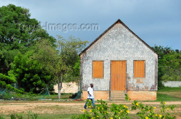 anguilla40: The Valley, Anguilla: old wooden building with shingles - former primary school - photo by M.Torres - (c) Travel-Images.com - Stock Photography agency - Image Bank