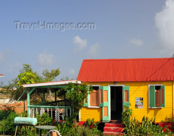 anguilla41: The Valley, Anguilla: the Roti Hut - Caribbean style restaurant, serving Creole roti and a mean BBQ of ribs - photo by M.Torres - (c) Travel-Images.com - Stock Photography agency - Image Bank