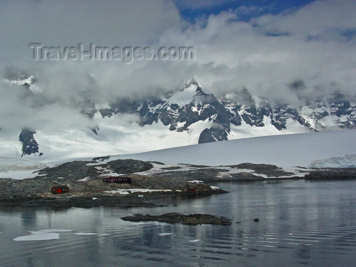 antarctica2: Port Lockroy, Wiencke Island, Antarctic peninsula, Antarctica: landscape and old buildings once used by the British Antarctic Survey - photo by M.Powell - (c) Travel-Images.com - Stock Photography agency - Image Bank