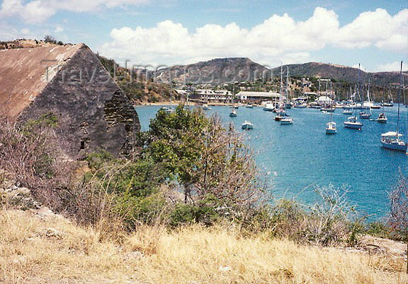 antigua-barbuda8: Antigua - St John's: Nelson's Dockyard - the harbor as seen from the fort (photo by G.Frysinger) - (c) Travel-Images.com - Stock Photography agency - Image Bank