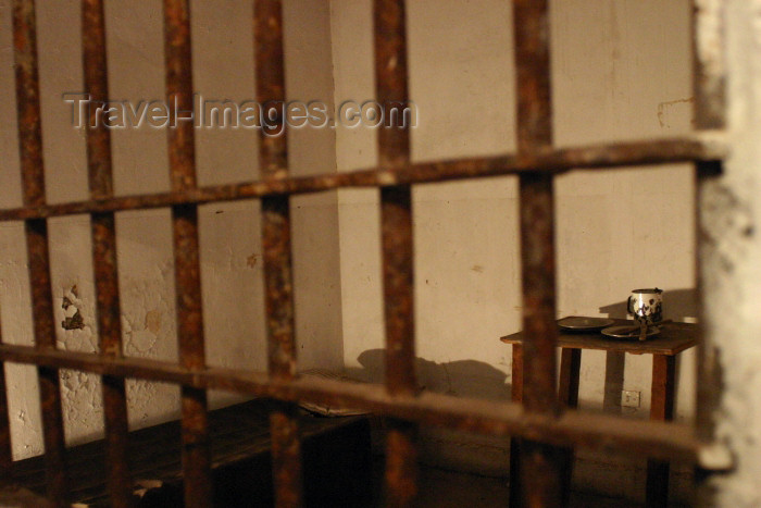 argentina102: Argentina - Buenos Aires: National Jail Museum - cell - Museo Penitenciario nacional - steel bars (photo by N.Cabana) - (c) Travel-Images.com - Stock Photography agency - Image Bank