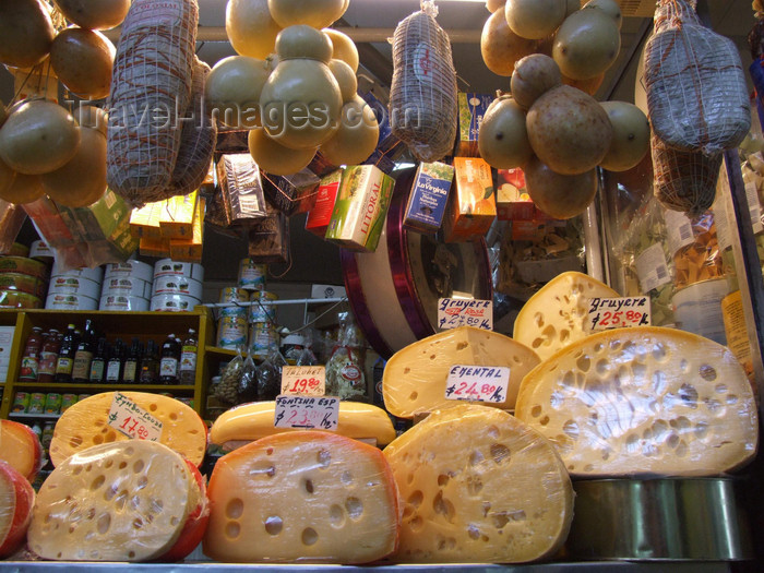 argentina182: Argentina - Córdoba - cheese at the market - Mercado Municipal - images of South America by M.Bergsma - (c) Travel-Images.com - Stock Photography agency - Image Bank