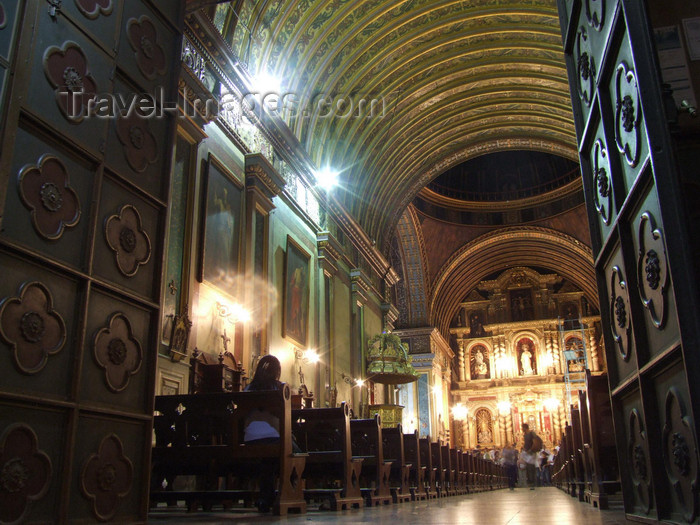 argentina188: Argentina - Córdoba - Iglesia Compañía de Jesús - inside - Jesuit Block - Manzaba Jesuítica - UNESCO world heritage - images of South America by M.Bergsma - (c) Travel-Images.com - Stock Photography agency - Image Bank