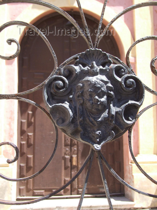 argentina197: Argentina - Córdoba - Monastery Juan de Tejeda - iron decoration - images of South America by M.Bergsma - (c) Travel-Images.com - Stock Photography agency - Image Bank