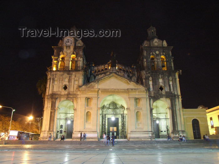 argentina211: Argentina - Córdoba - the Cathedral - nocturnal - images of South America by M.Bergsma - (c) Travel-Images.com - Stock Photography agency - Image Bank