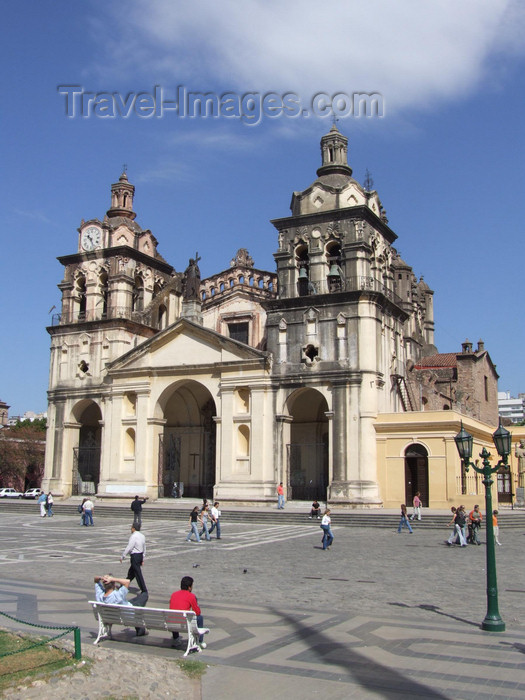 argentina212: Argentina - Córdoba - the Cathedral and Plaza San Martin - images of South America by M.Bergsma - (c) Travel-Images.com - Stock Photography agency - Image Bank