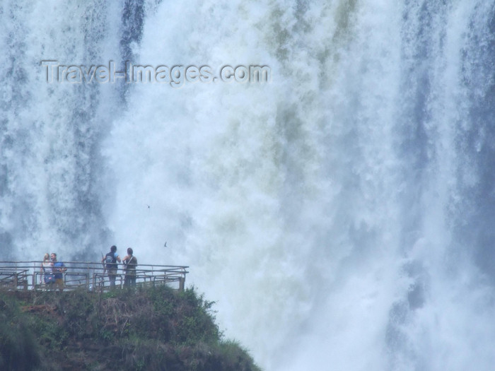 argentina225: Argentina - Iguazu Falls - observation point and water curtain - images of South America by M.Bergsma - (c) Travel-Images.com - Stock Photography agency - Image Bank