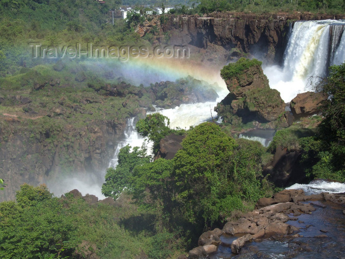 argentina227: Argentina - Iguazu Falls - Rainbow over the falls - images of South America by M.Bergsma - (c) Travel-Images.com - Stock Photography agency - Image Bank