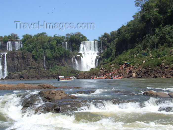 argentina228: Argentina - Iguazu Falls - rapids before the falls - images of South America by M.Bergsma - (c) Travel-Images.com - Stock Photography agency - Image Bank