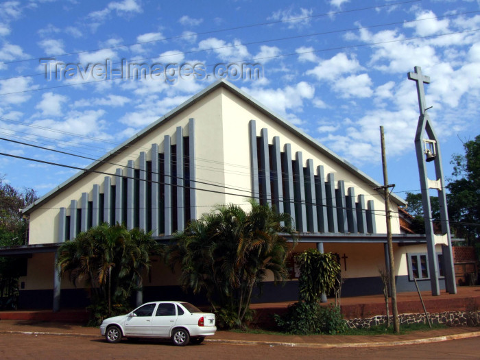 argentina240: Argentina - Puerto Iguazu - Modern church - images of South America by M.Bergsma - (c) Travel-Images.com - Stock Photography agency - Image Bank