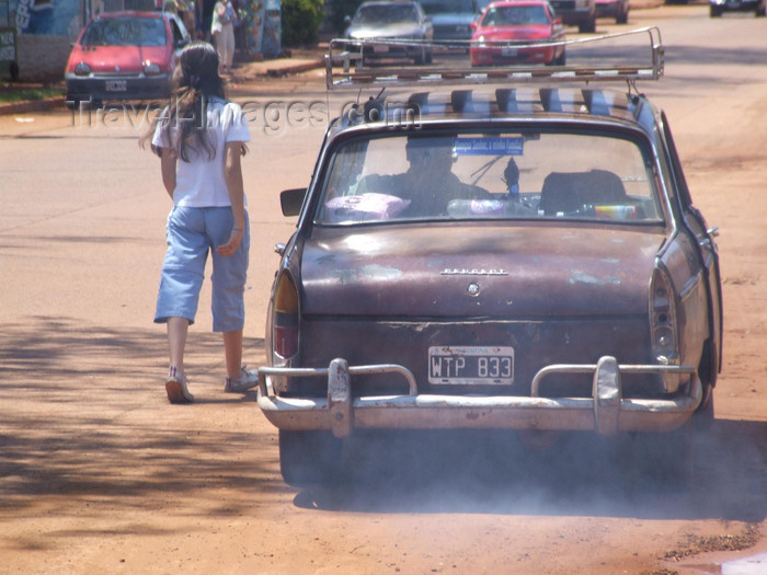 argentina243: Argentina - Puerto Iguazu - smelling Peugeot - images of South America by M.Bergsma - (c) Travel-Images.com - Stock Photography agency - Image Bank