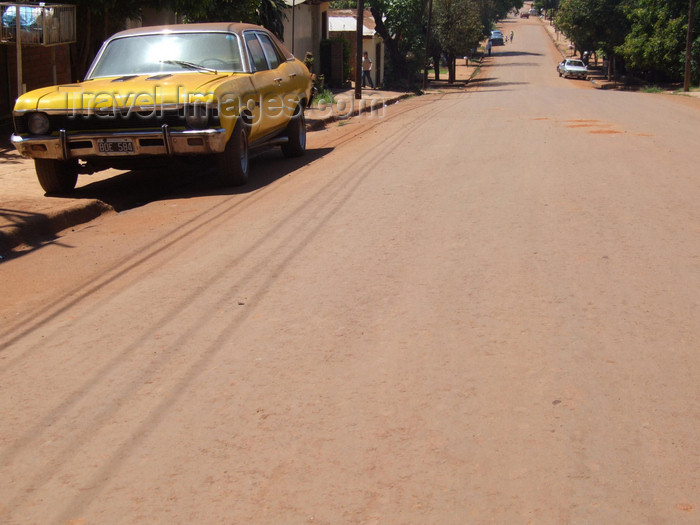 argentina245: Argentina - Puerto Iguazu - the streets are red in Puerto Iguazu, some cars are yellow - images of South America by M.Bergsma - (c) Travel-Images.com - Stock Photography agency - Image Bank