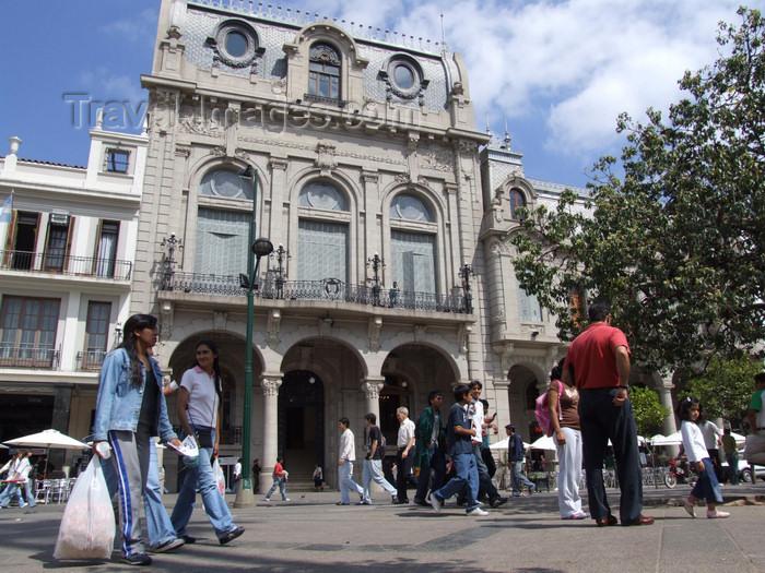 argentina249: Argentina - Salta - art deco façade - Plaza 9 de Julio - images of South America by M.Bergsma - (c) Travel-Images.com - Stock Photography agency - Image Bank