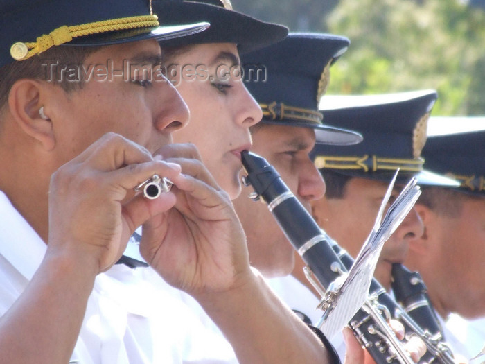 argentina256: Argentina - Salta - Day of the Cuerpo infantil de policia - musicians - images of South America by M.Bergsma - (c) Travel-Images.com - Stock Photography agency - Image Bank