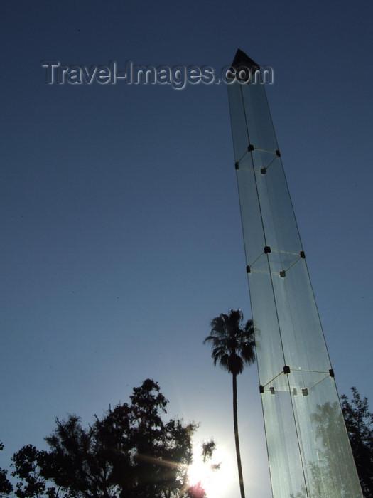 argentina257: Argentina - Salta - Entrance to the Cerro San Bernardo cablecar - glass obelisk - images of South America by M.Bergsma - (c) Travel-Images.com - Stock Photography agency - Image Bank
