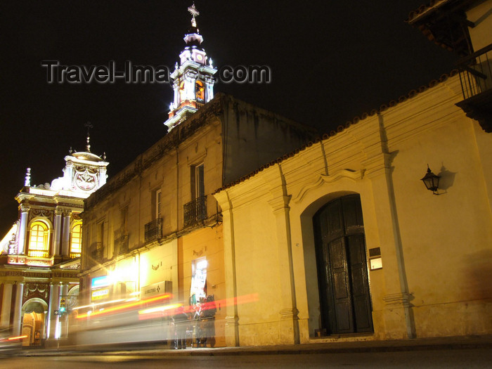 argentina259: Argentina - Salta - going to Iglesia San Francisco - nocturnal - images of South America by M.Bergsma - (c) Travel-Images.com - Stock Photography agency - Image Bank