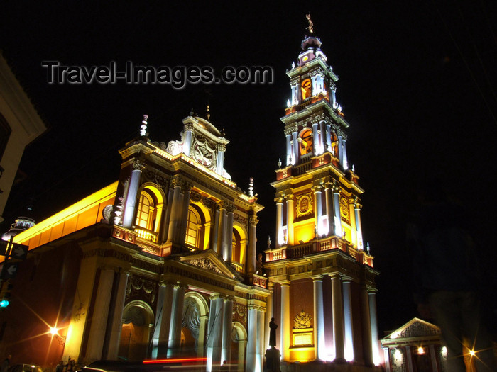 argentina262: Argentina - Salta - Iglesia San Francisco - nocturnal - images of South America by M.Bergsma - (c) Travel-Images.com - Stock Photography agency - Image Bank