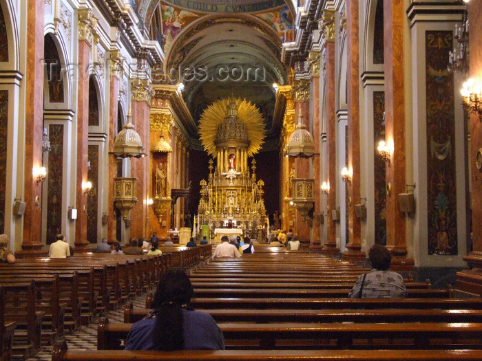 argentina265: Argentina - Salta - Inside the Cathedral - images of South America by M.Bergsma - (c) Travel-Images.com - Stock Photography agency - Image Bank
