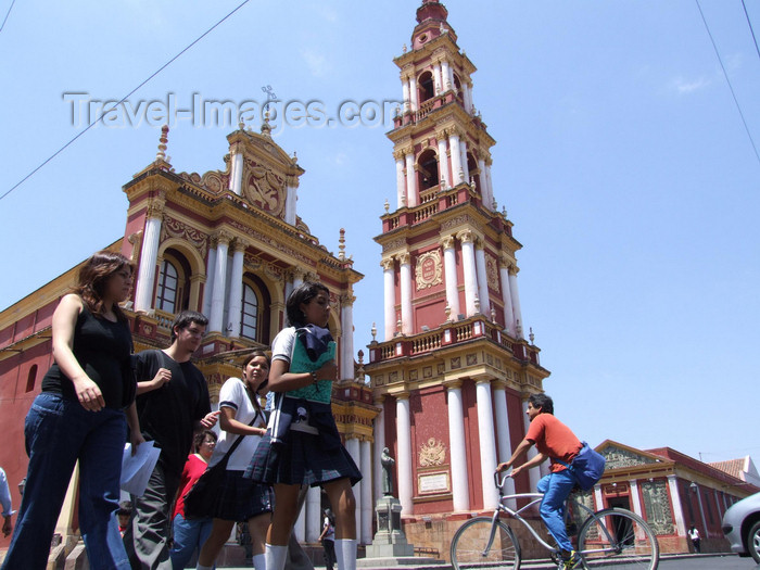 argentina268: Argentina - Salta - passing by the Iglesia de San Francisco - images of South America by M.Bergsma - (c) Travel-Images.com - Stock Photography agency - Image Bank